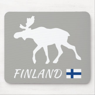 Finland Elk and flag Mouse Pad