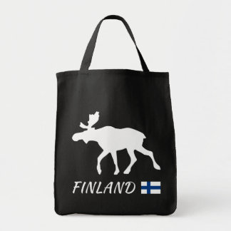 Finland Elk and flag Tote Bag
