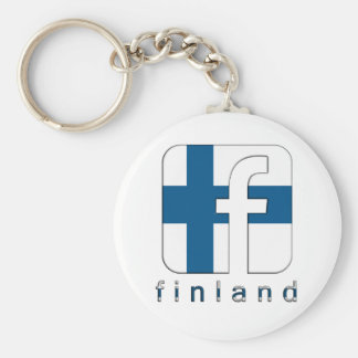 Finland Facebook Logo Unique Awesome Popular Keychain