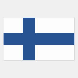 Finland/Finnish/Finn (Civil) Flag Rectangular Sticker