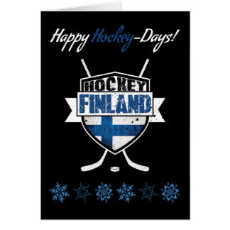 Finland Finnish Hockey Christmas Card