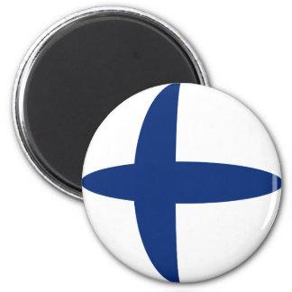 Finland Fisheye Flag Magnet
