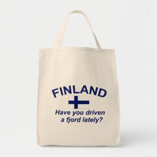 Finland Fjord Tote Bag