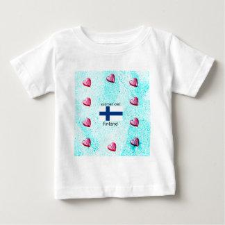 Finland Flag And Finnish Language Design Baby T-Shirt