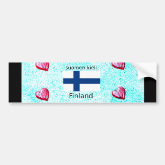 Finland Flag And Finnish Language Design Bumper Sticker