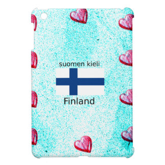 Finland Flag And Finnish Language Design Cover For The iPad Mini