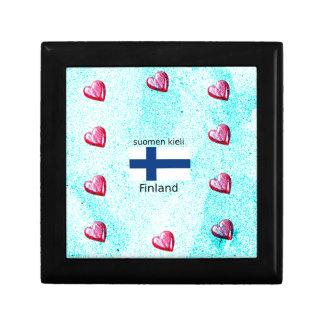 Finland Flag And Finnish Language Design Gift Box