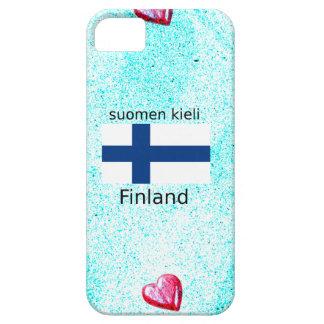 Finland Flag And Finnish Language Design iPhone 5 Case