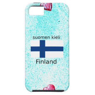 Finland Flag And Finnish Language Design iPhone 5 Cover