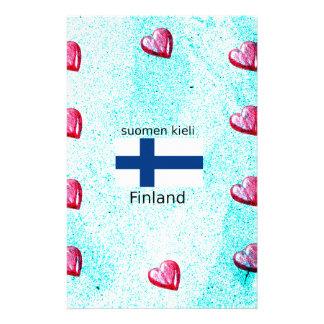 Finland Flag And Finnish Language Design Stationery