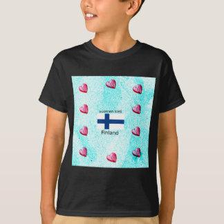 Finland Flag And Finnish Language Design T-Shirt