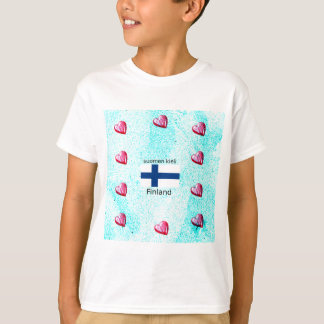 Finland Flag And Finnish Language Design T-Shirt