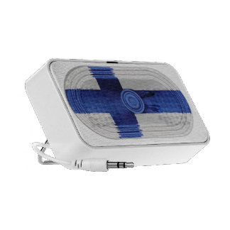Finland Flag Blue Nordic Cross On White Speaker