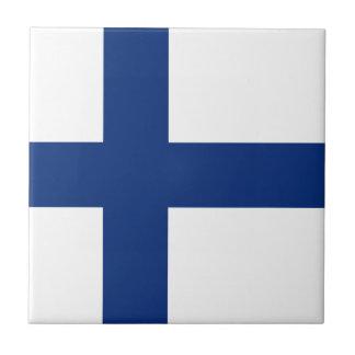 Finland Flag Ceramic Tile