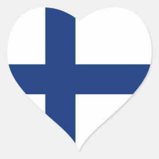 Finland Flag Heart Sticker