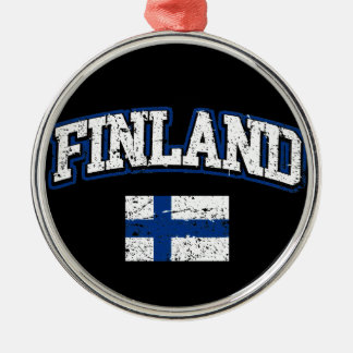 Finland Flag Metal Ornament