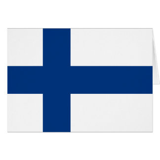 Finland Flag Note Card