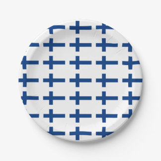 Finland Flag Paper Plate