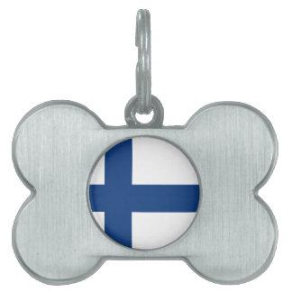 Finland flag pet ID tag