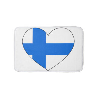 Finland Flag Simple Bath Mats