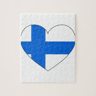 Finland Flag Simple Jigsaw Puzzle