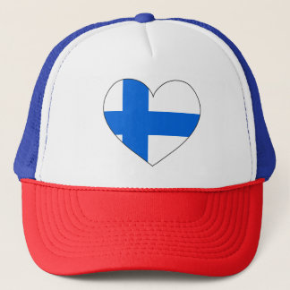 Finland Flag Simple Trucker Hat