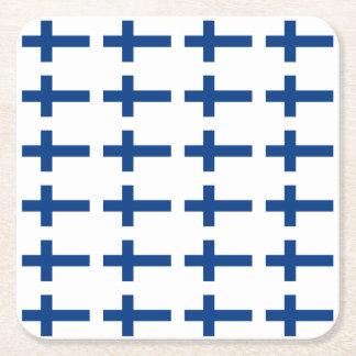 Finland Flag Square Paper Coaster
