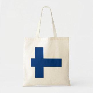 Finland Flag Tote Bag