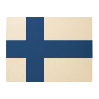 Finland Flag Wood Wall Decor