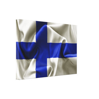 Finland Flag Wrapped Canvas