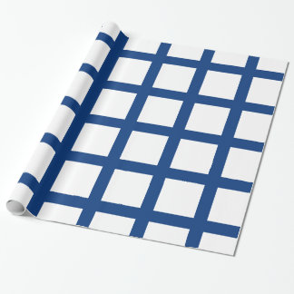 Finland flag wrapping paper