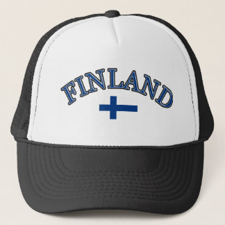 Finland football design trucker hat