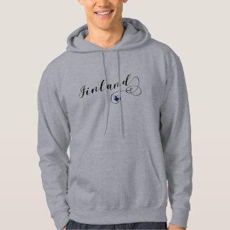 Finland Heart Hoodie, Finnish, Finn Hoodie
