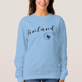 Finland Heart Sweatshirt, Finnish, Finn Sweatshirt