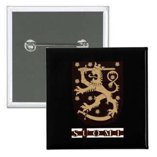 Finland Lion 15 Cm Square Badge