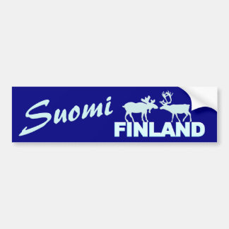 Finland Moose & Reindeer bumpersticker Bumper Sticker
