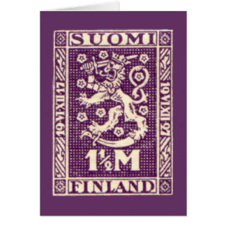 Finland Purple Lion Card, SUOMI Card