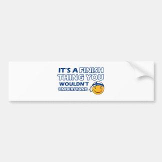 Finland Smiley Designs Bumper Sticker