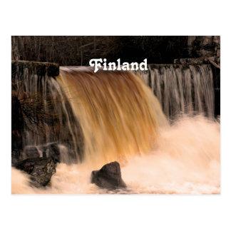 Finland Waterfall Postcard