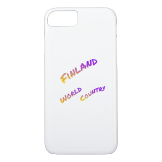 Finland world country, colorful text art iPhone 8/7 case