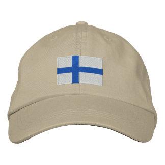 Finland world flag embroidered adjustable hat