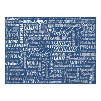 Finland's Towns custom invitations