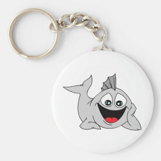 Finley the Friendly Fish Basic Round Button Key Ring