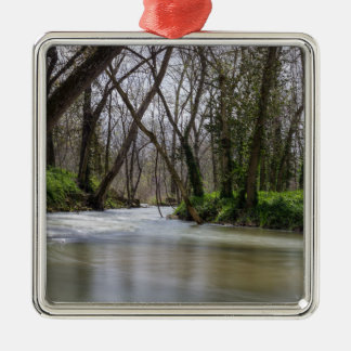 Finley Tranquility In Spring Time Silver-Colored Square Decoration