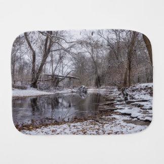 Finley Winter Snow Burp Cloth