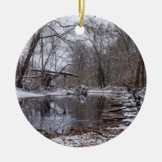 Finley Winter Snow Ceramic Ornament