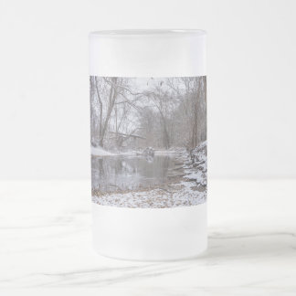 Finley Winter Snow Frosted Glass Beer Mug