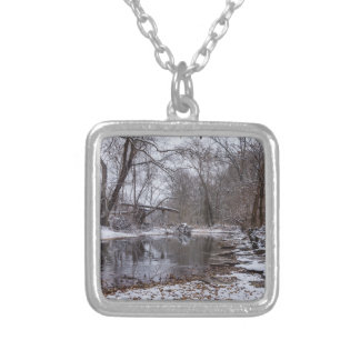 Finley Winter Snow Silver Plated Necklace