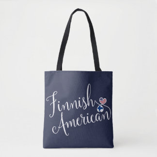 Finnish American Entwined Hearts Grocery Bag