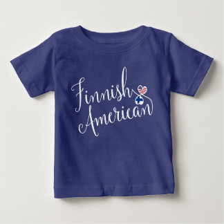 Finnish American Entwinted Hearts T-Shirt, Finns Baby T-Shirt
